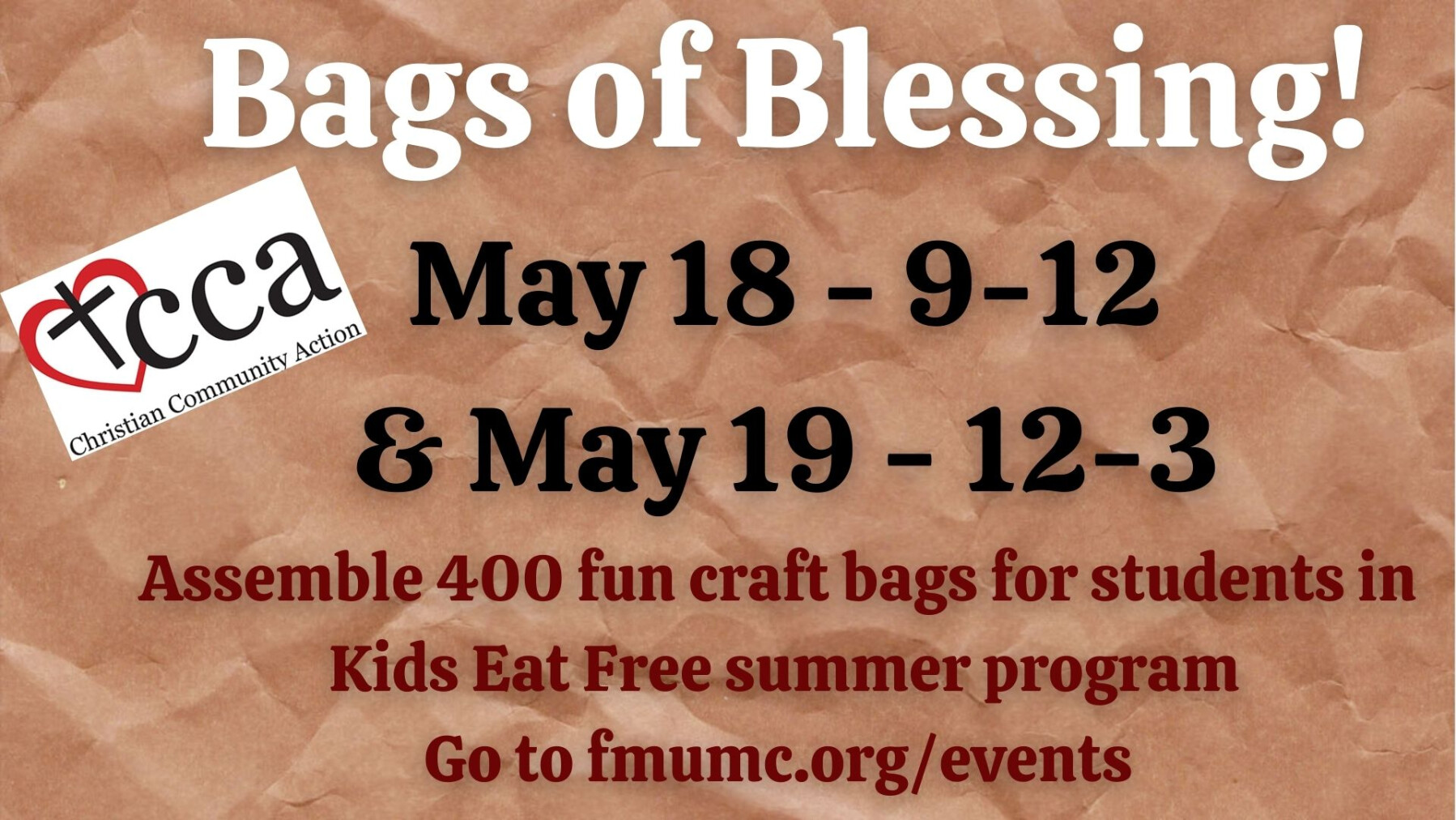 CCA VBS Activity Bag Assembly